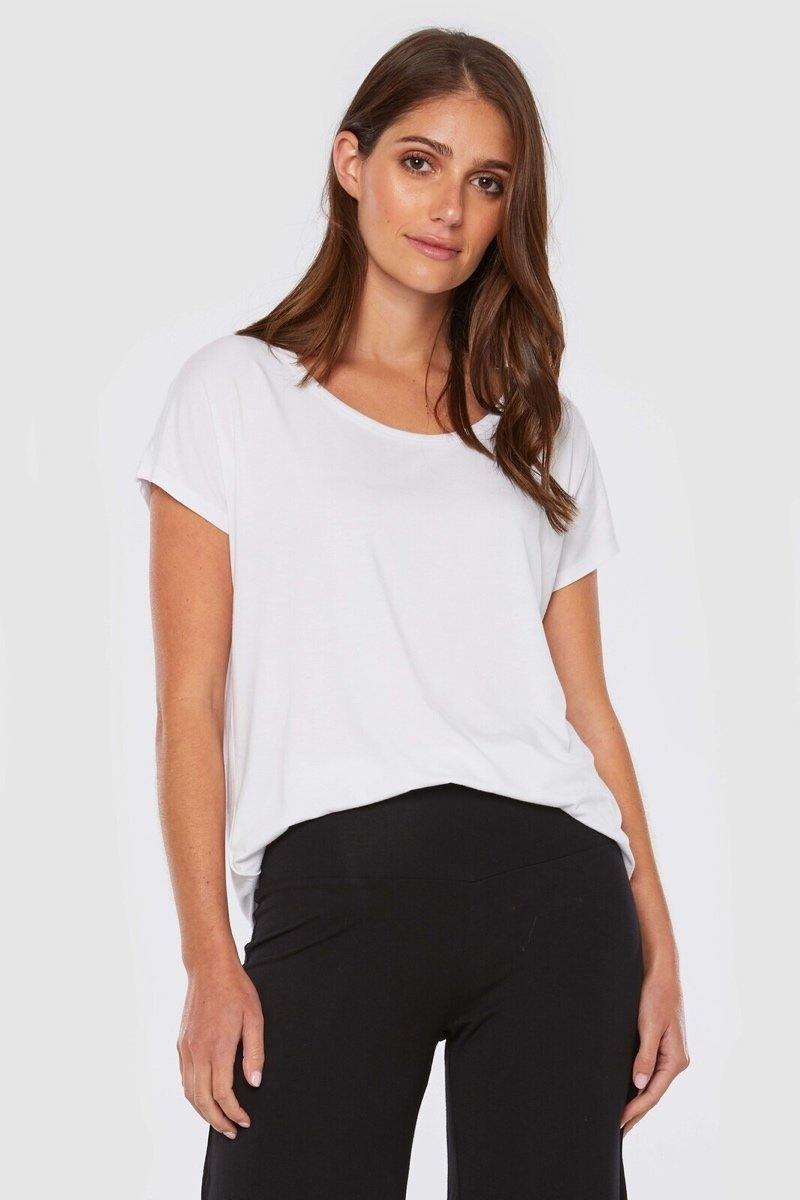 Bamboo Body Eadie Top - White style {{product.sku}} - buy from Weekends on 2nd Ave at {{shop.url}} or visit our shop at Second Ave Plaza on the corner of Beaufort Street & Second Avenue Mount Lawley WA