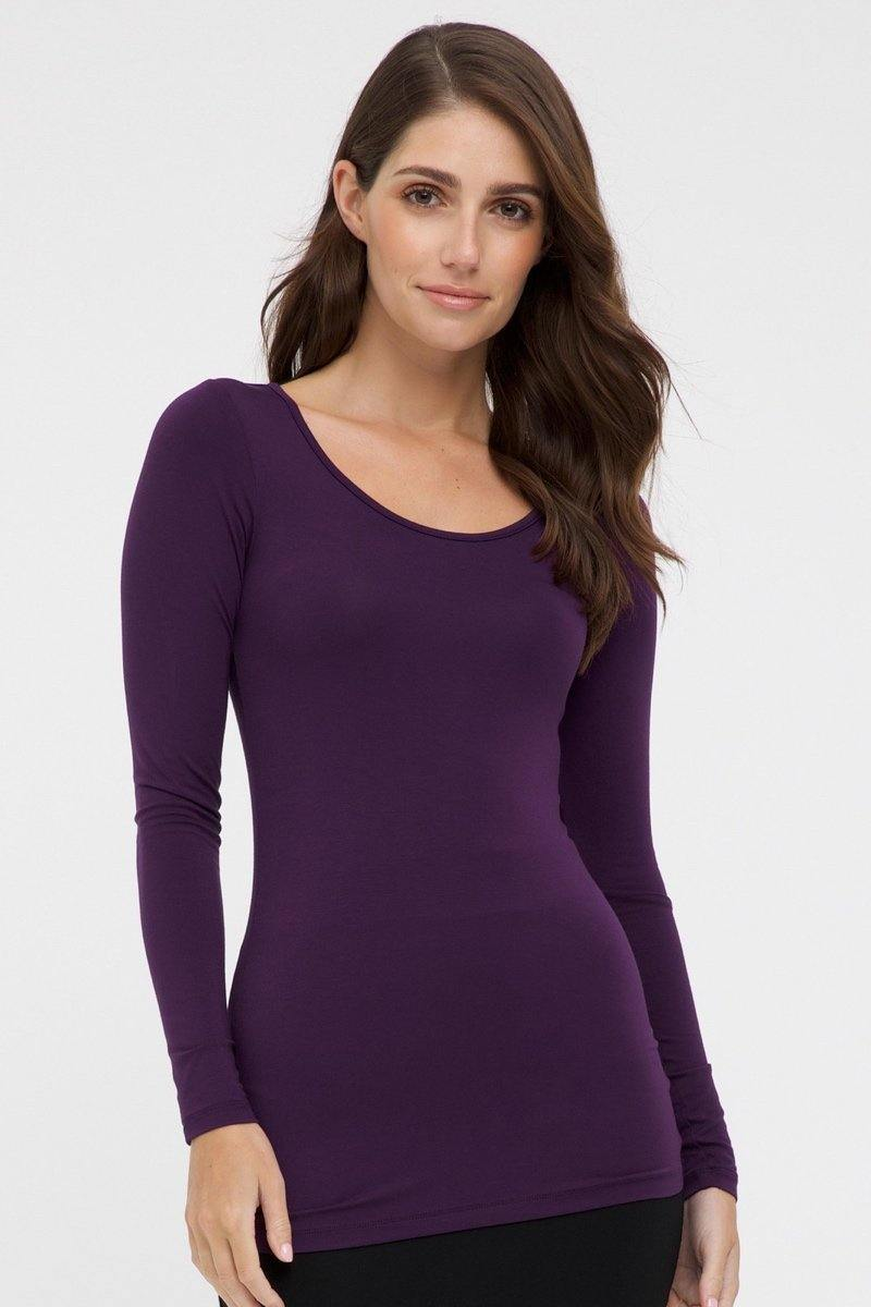 Bamboo Body Layering Top - Plum