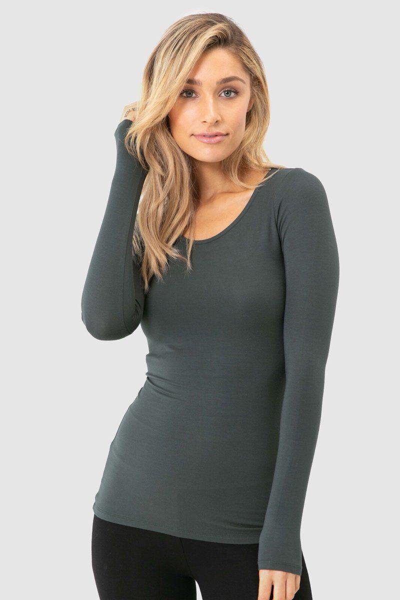 Bamboo Body Layering Top - Forest