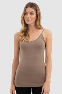 Bamboo Body Lucia Bamboo Cami - Mocha | Buy Online at Weekends