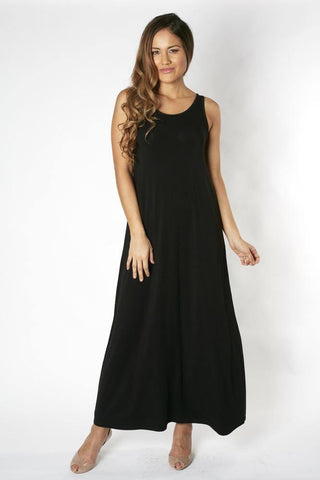 Bamboo Body Maxi Dress - Black | Buy Online at Weekends