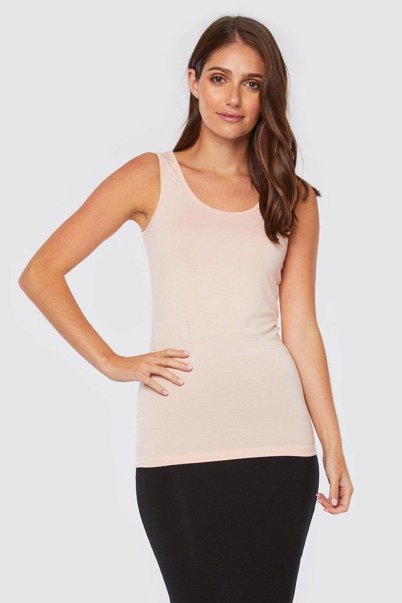 Bamboo Body Vest Top - Pale Pink | Buy Online at Weekends