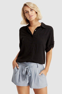 Bamboo Body Woven Bamboo Blouse - Black | Buy Online at Weekends