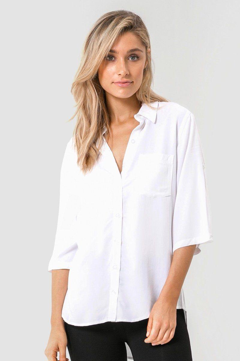 Bamboo Body Woven Bamboo Blouse - White | Buy Online at Weekends
