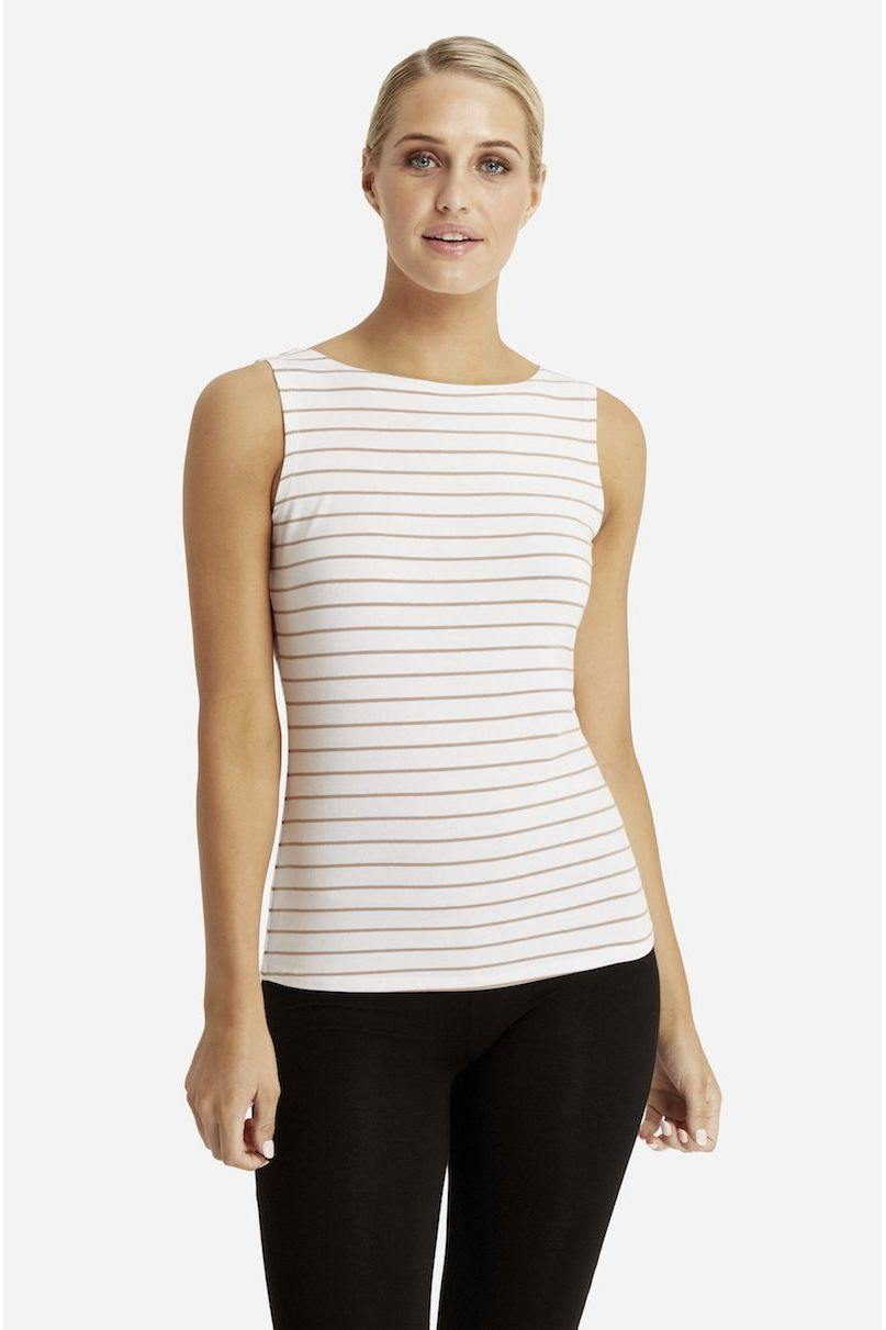 Bamboo Body Shell Top - Cinnamon Stripe | Buy Online at Weekends