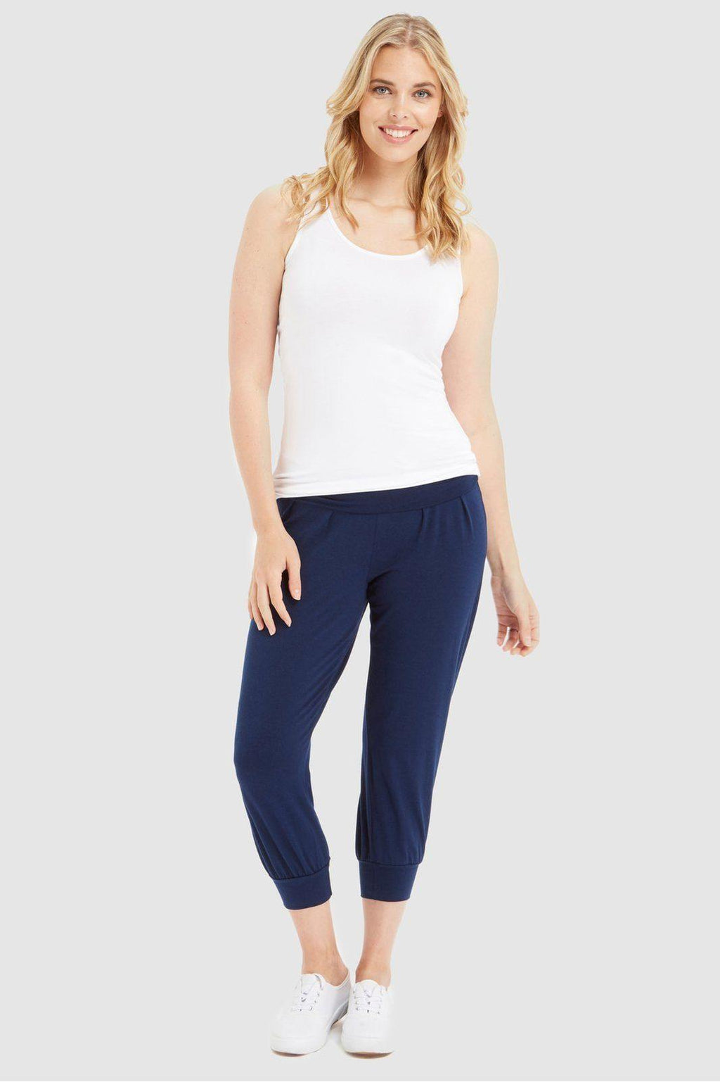 Summer Slouch Pant - Navy - Bamboo Body