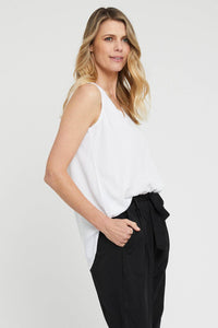 Woven V Neck Blouse by Bamboo Body