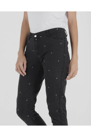 Blair Reversible Jeans in Star Print by Betty Basics
