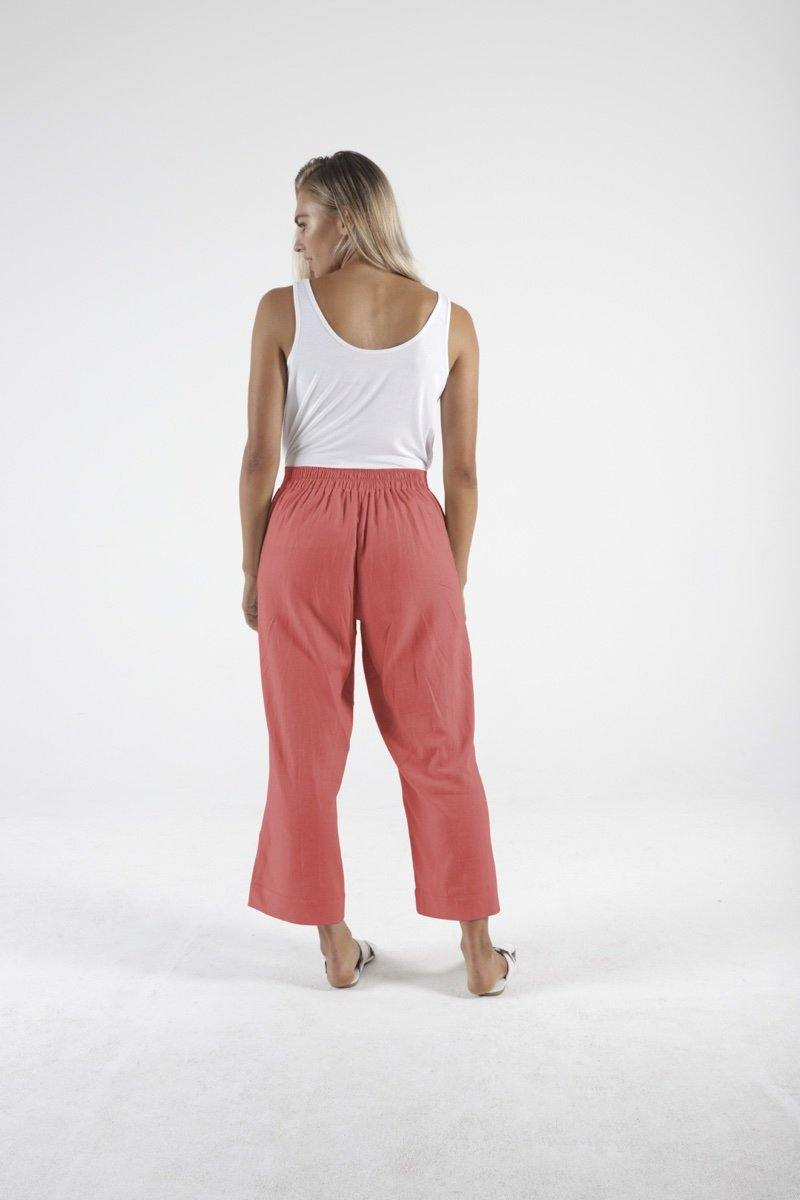 Parker Linen Pant in Berry by Betty Basics