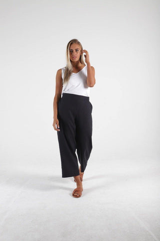 Parker Linen Pant in Indi Grey by Betty Basics
