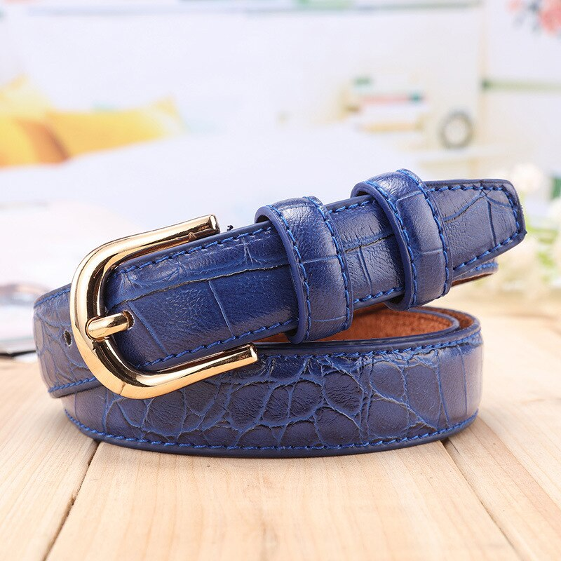 Bug & Bear Genuine Leather Crocodile Texture Belt - Weekends on 2nd Ave - Accessories