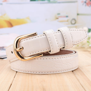 Bug and Bear Genuine Leather Crocodile Print Belt - Weekends on 2nd Ave - Accessories