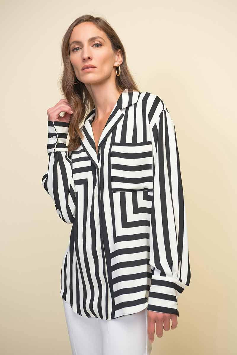 Striped Blouse by Joseph Ribkoff