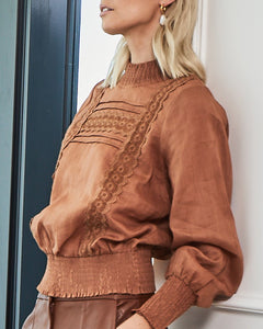 Calibre Top in Cognac by Zoe Kratzman