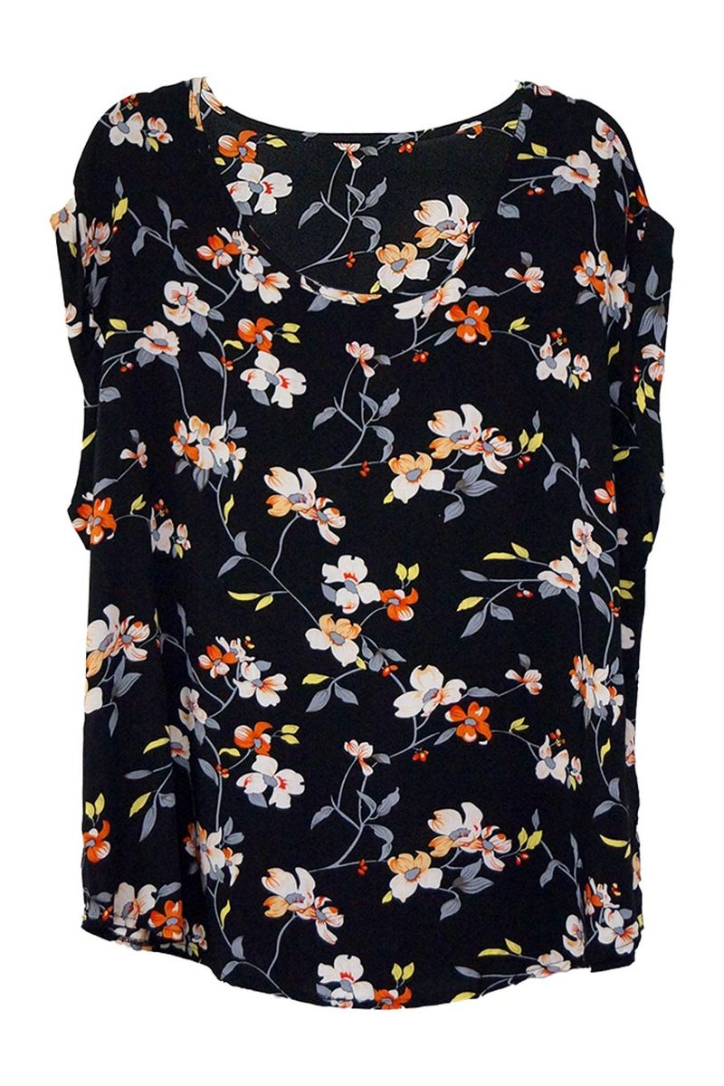 Floral Cap Sleeve Shell Top - Caroline Morgan | Buy Online at Weekends