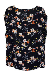 Floral Cap Sleeve Shell Top - Caroline Morgan