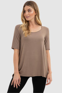 Carter Tunic in Mocha by Bamboo Body