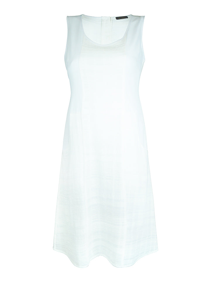 Cotton Chiffon Dress with Buttons - LA STRADA