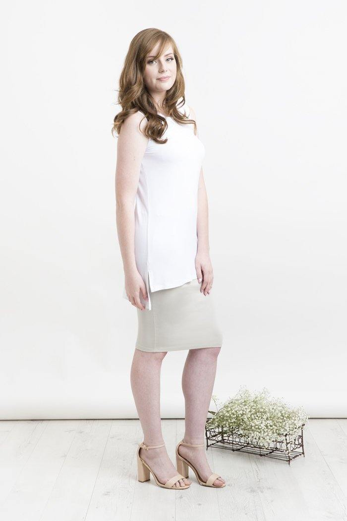 Bamboo Body Tube Skirt - Taupe | Buy Online at Weekends