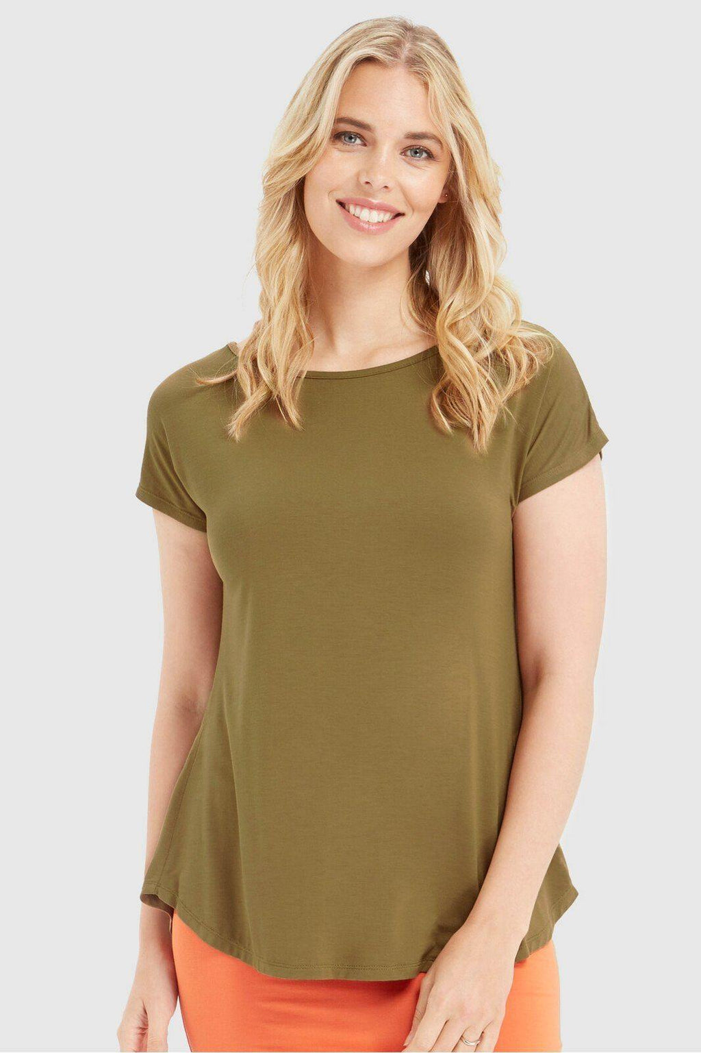 Bamboo Body Pia Tee - Khaki | Buy Online at Weekends