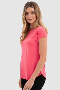 Bamboo Body Pia Bamboo Tee - Hibiscus | Buy Online at Weekends