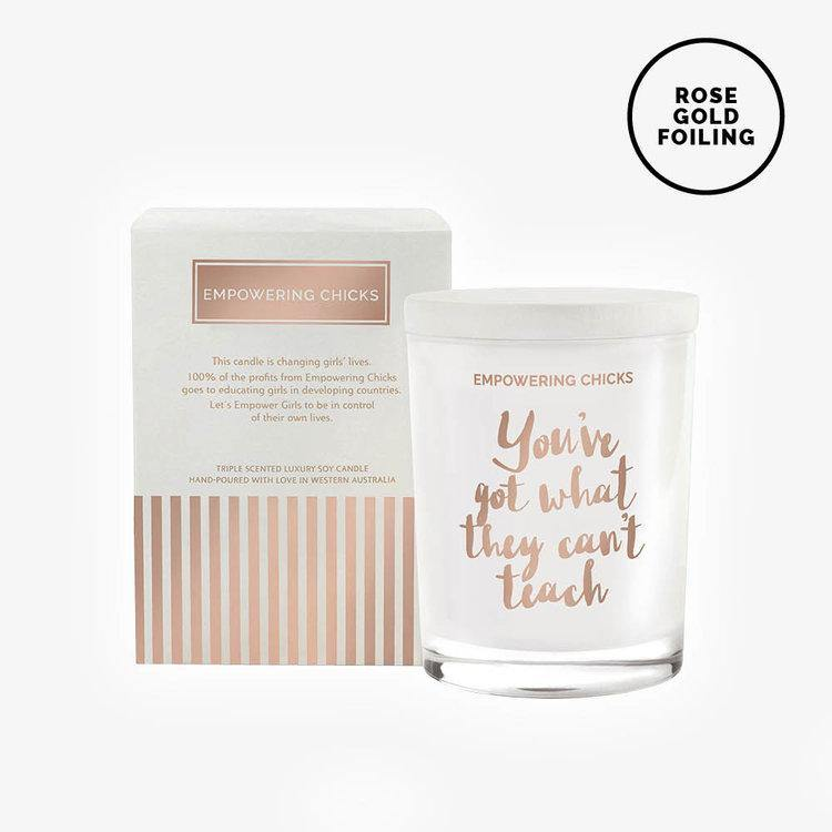 Triple Scented Soy Candle - Poached Peaches with Sweet Vanilla Bean Cream