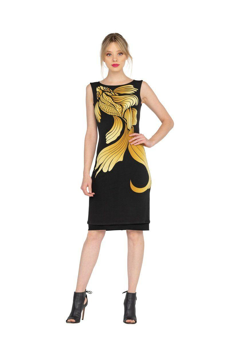 Goldfish Reversible Sleeveless Bateau Dress from Eva Varro