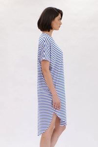 Shell Dress in Pacific Stripe by Mela Purdie