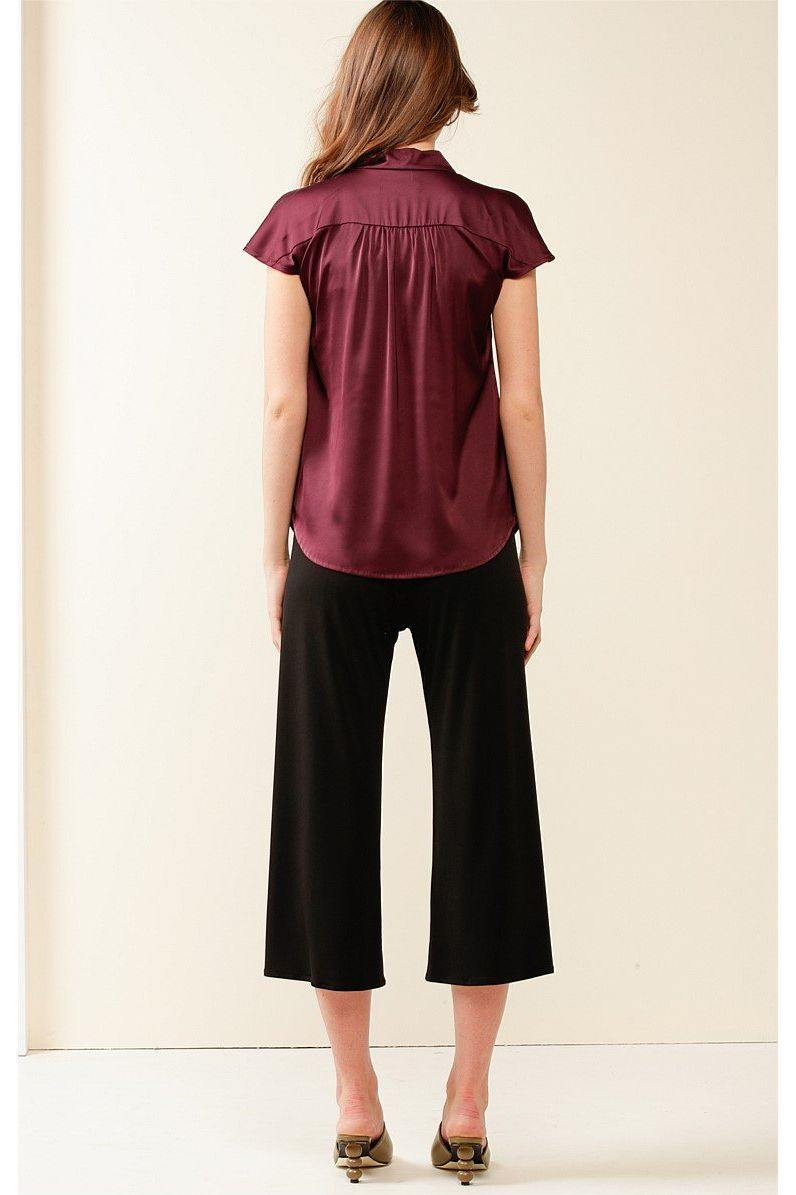 GPO Blouse in Black Cherry by Sacha Drake - Weekends on 2nd Ave
