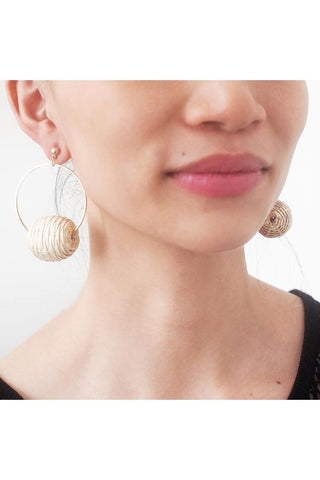 Bug & Bear Rattan Hoop Earrings | Buy Online at Weekends