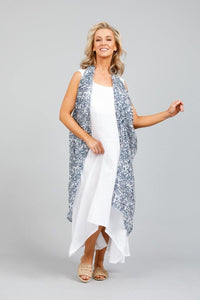 Paradise Ribbon Vest in Atlantis Print by Holiday