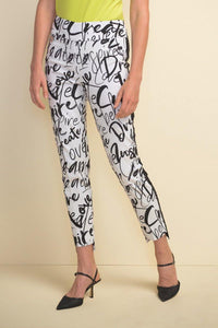 Graffiti Print Pants by Joseph Ribkoff - Weekends on 2nd Ave