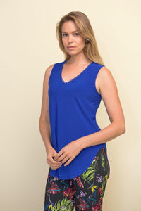 Scoop Neck Singlet Top in Royal Sapphire by Joseph Ribkoff