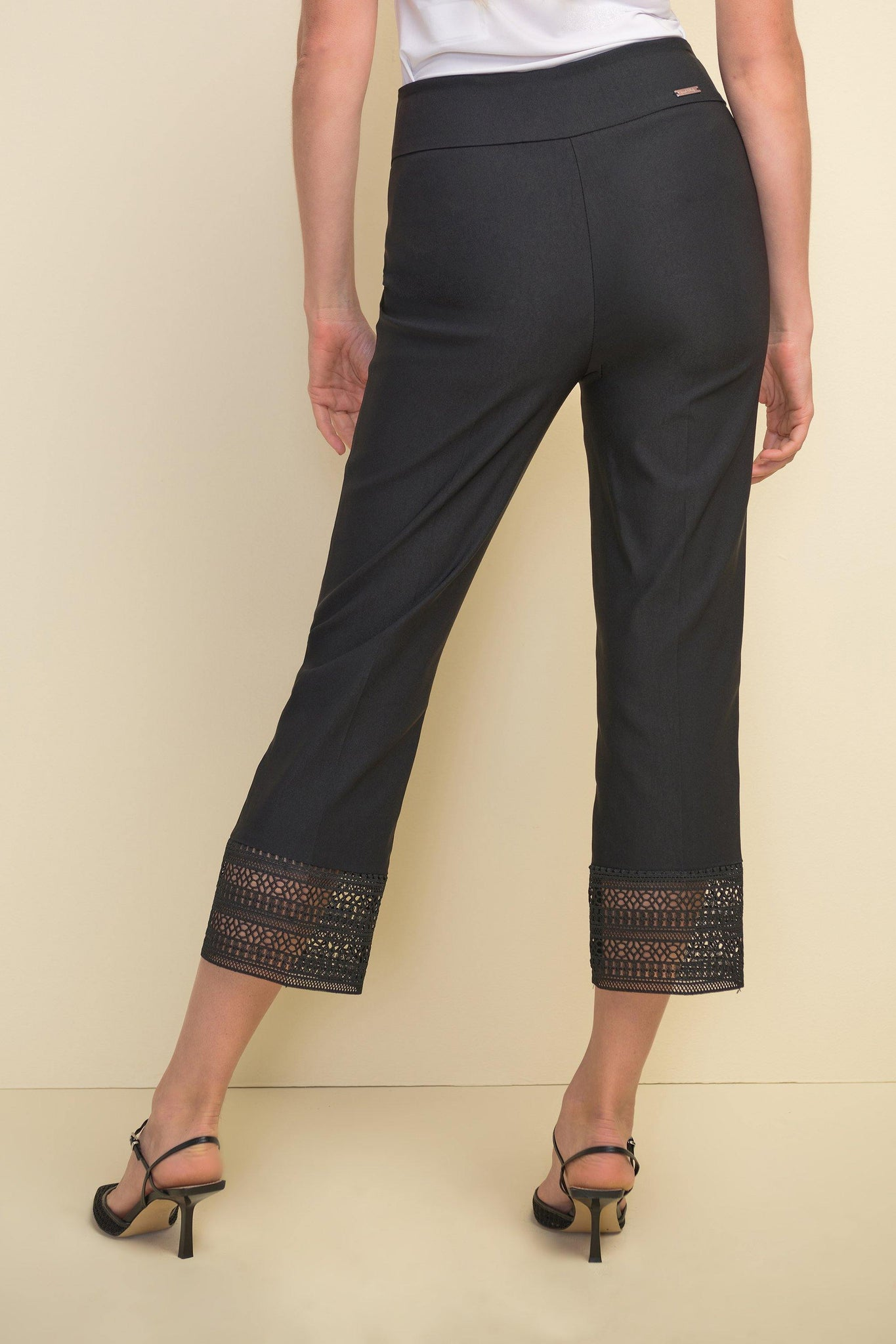 Black Cropped Pant from Joseph Ribkoff - Weekends on 2nd Ave