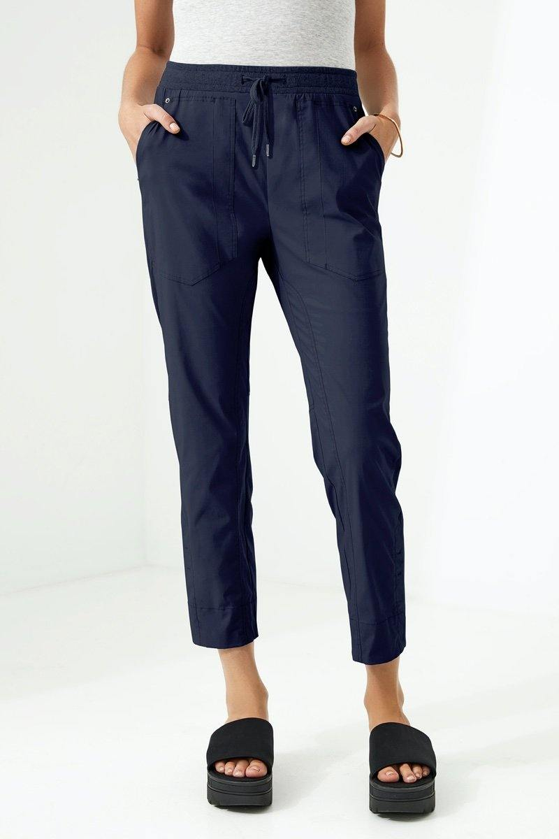 Port 7/8 Pant by Lania The Label in Navy - Weekends on 2nd Ave