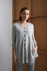 Mainline Cardi in Silver Marle - 2844 by Lania the Label