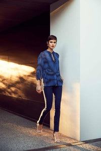 Lania the Label Dash shirt in Steel Blue at Weekends