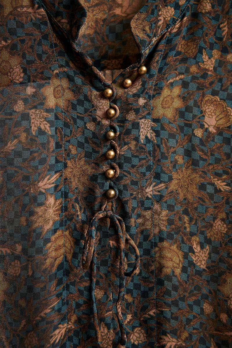 Sienna Shirt in Sienna Print 2811 by Lania the Label