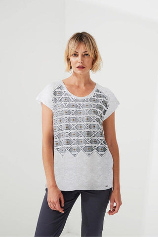 Tatler Top in Nickel by Lania The Label