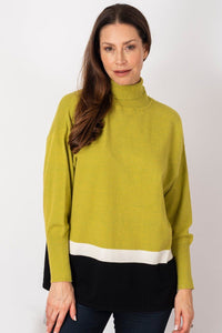 Long Weekend Relax Roll Neck Sweater - Maple Green | Buy Online at Weekends