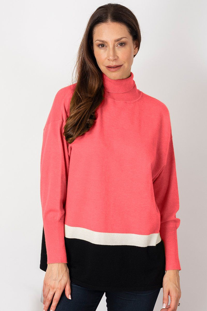 Long Weekend Relax Roll Neck Sweater - Burnt Coral | Buy Online at Weekends