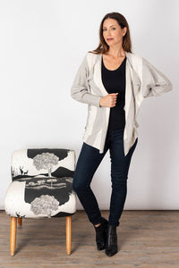 Long Weekend Lazy Day Cardigan - Flannel & Cream | Buy Online at Weekends