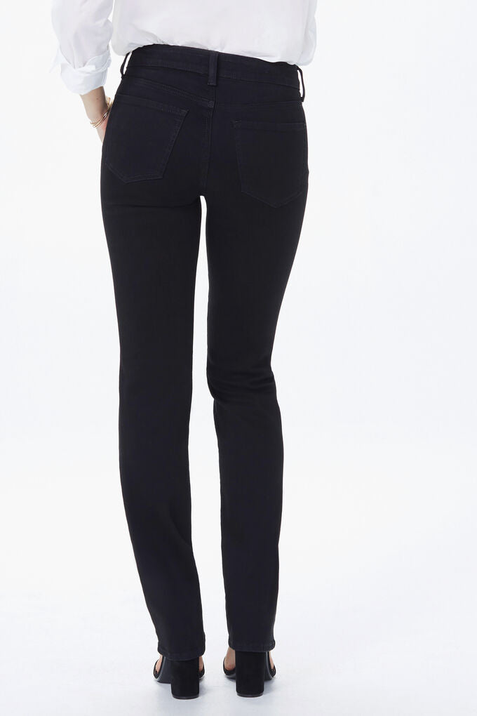 NYDJ Marilyn Straight Jean - Black | Buy Online at Weekends