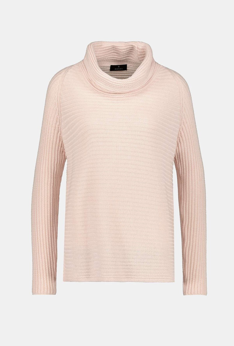 Roll Neck Rib Sweater by Monari