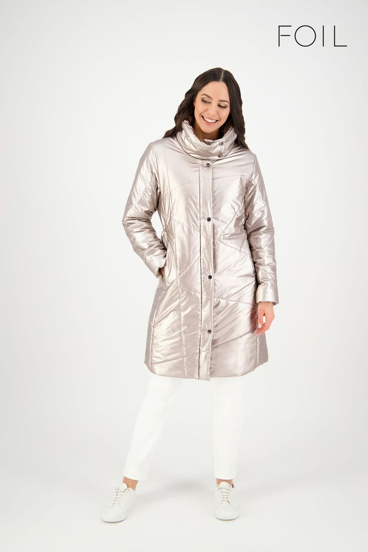 Major Tom Puffer Jacket in Metallic by Foil