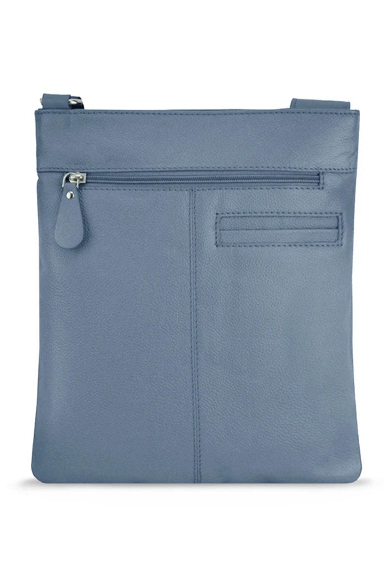Manzoni Leather Crossbody Bag - Indigo | Buy Online at Weekends