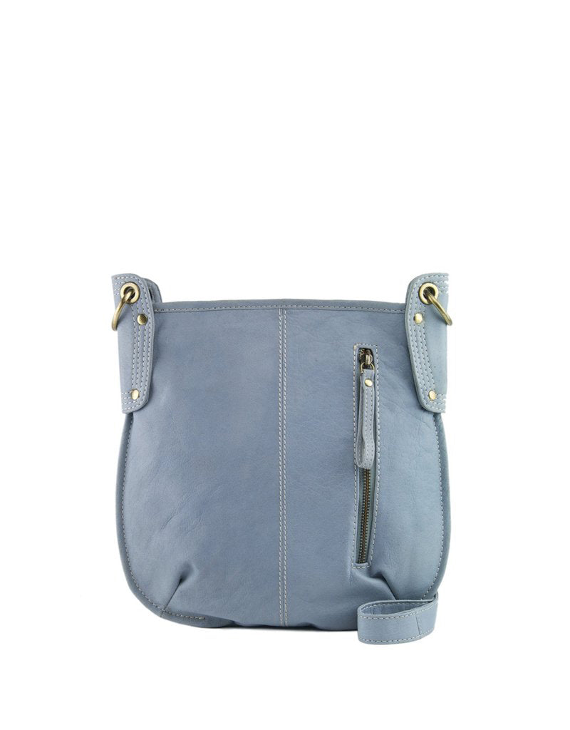 Manzoni Light Blue Leather Crossbody Bag | Buy Online at Weekends