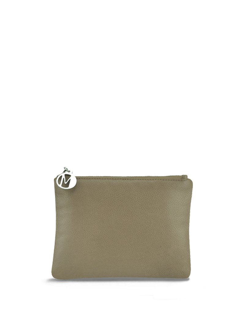 Manzoni Zippered Leather Pouch - Gingersnap | Buy Online at Weekends