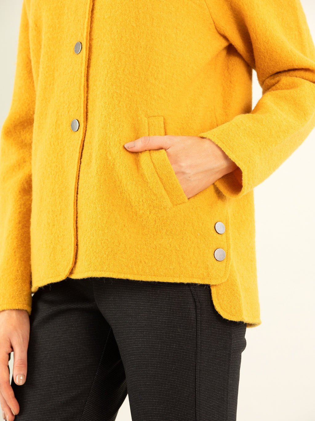 Marco Polo Boiled Wool Jacket - Marigold | Buy Online at Weekends