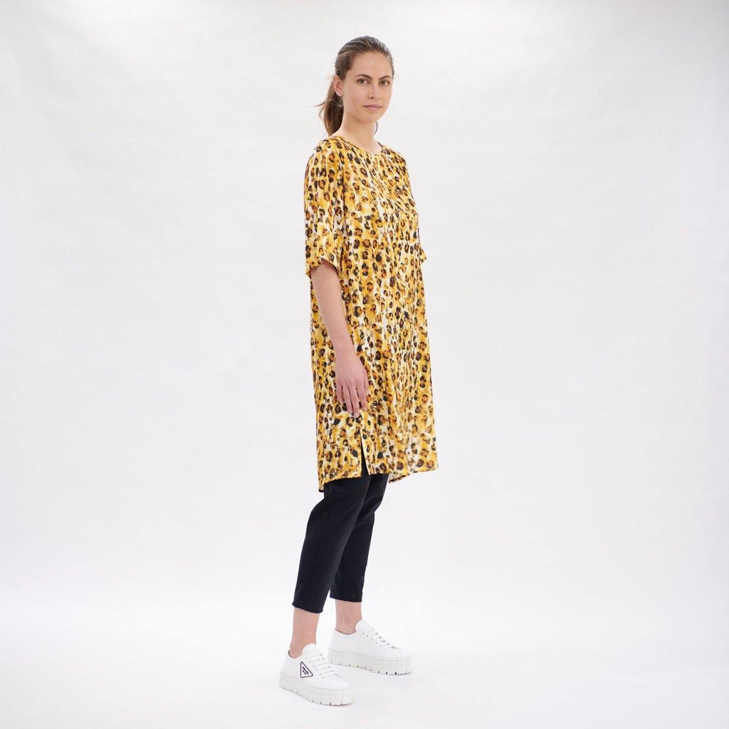 Layering Dress in Liquorice Leopard By Mela Purdie F954 3857